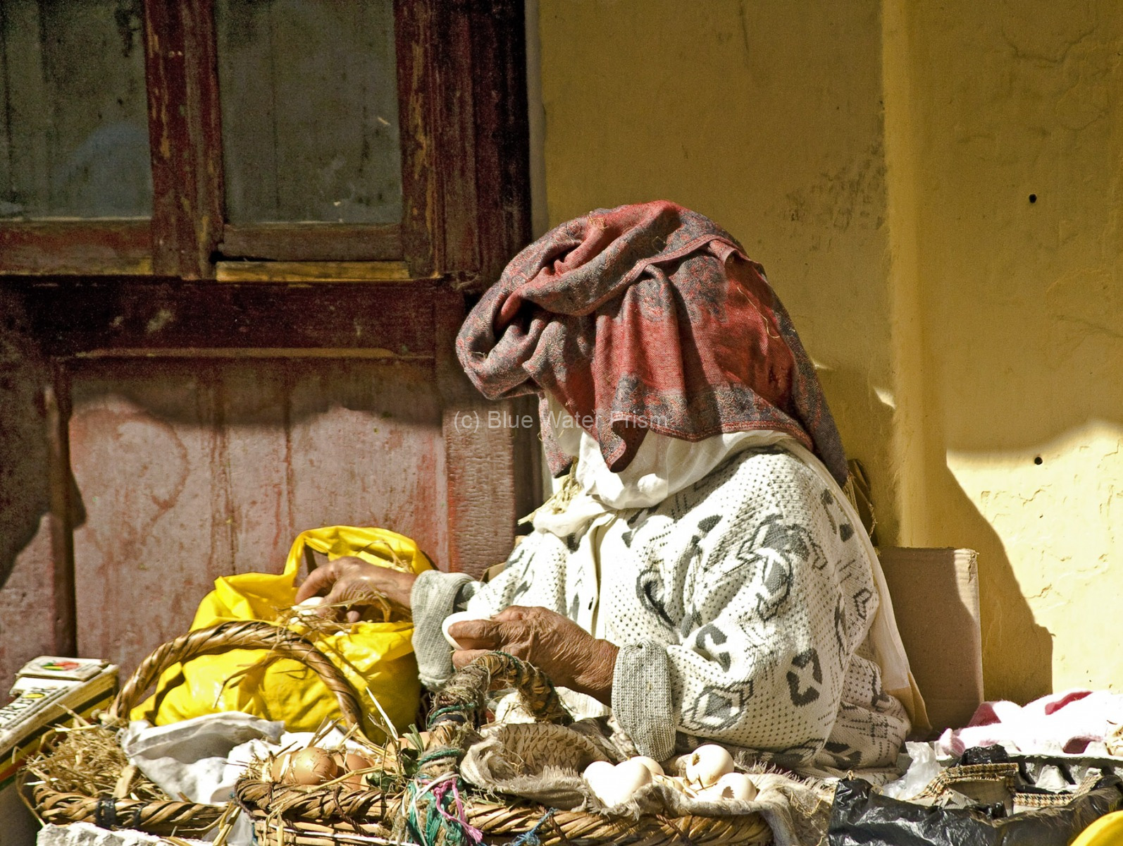 Market in Tangiers selling eggs