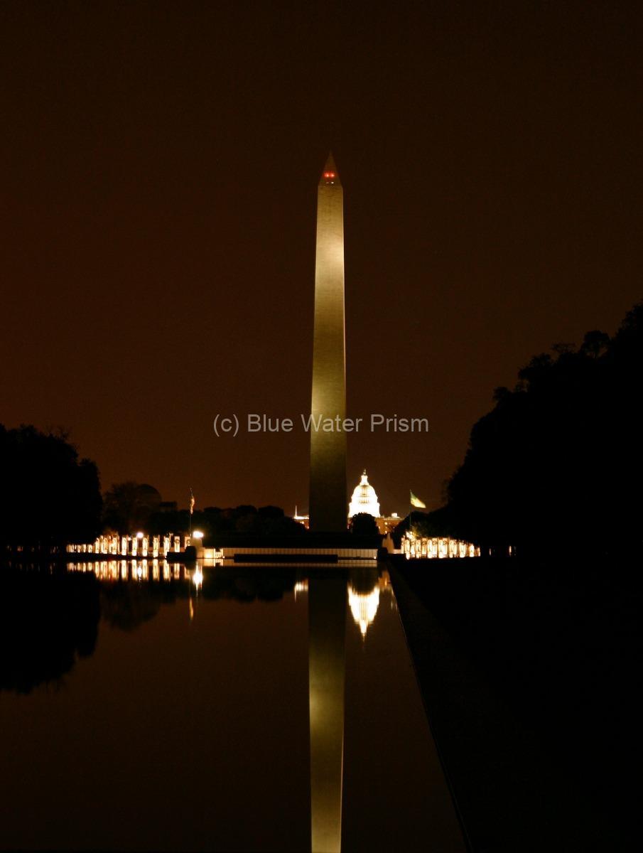Washington Memorial and the Capitol