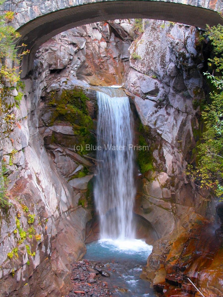 Glacier runoff falls